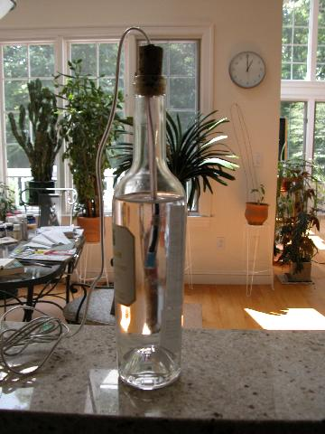 instrumented wine bottle