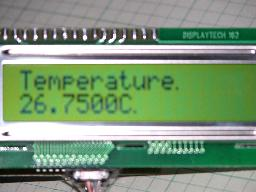 Temperature in an LCD screen